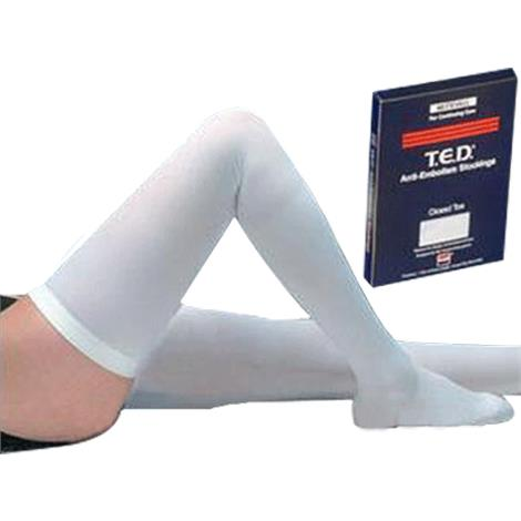 Covidien Kendall Closed Toe Thigh Length TED Anti-Embolism Stockings For Continuing Care