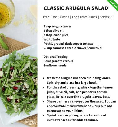 Arugula Parmesan Salad with lemon